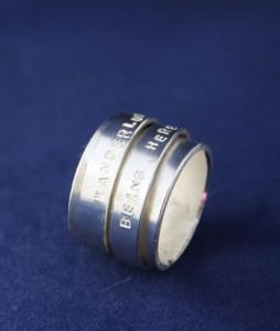 Ring Silber Drehring doppelt/ dreifach