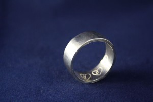 Ring Silber Initialen