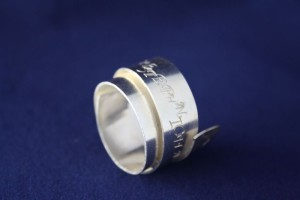 Ring Silber Wickelring