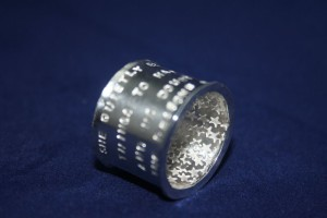 Ring Silber Poetry Stars