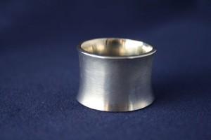 Ring Silber konkav