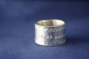 Ring Silber Datum Sterne