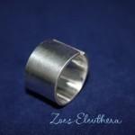 Ring Silber breit offen