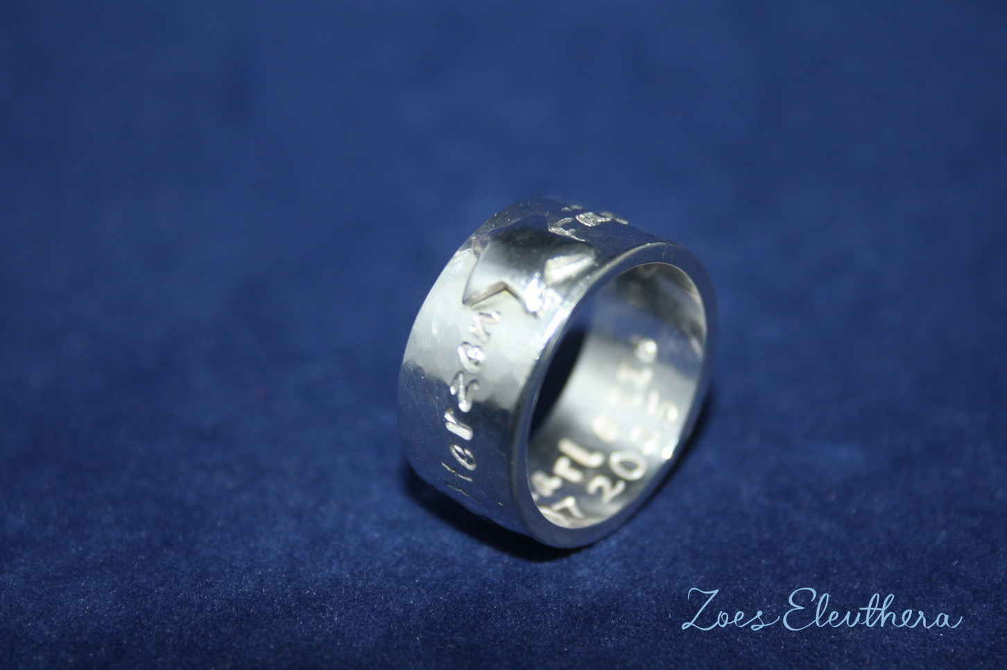 Ring Silber Name Stern Text Motiv individuell Kinder