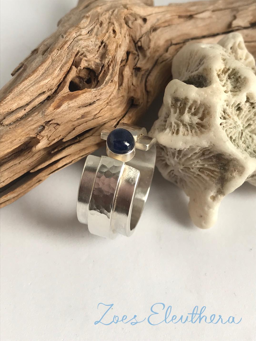 Ring Silber Edelstein Saphir