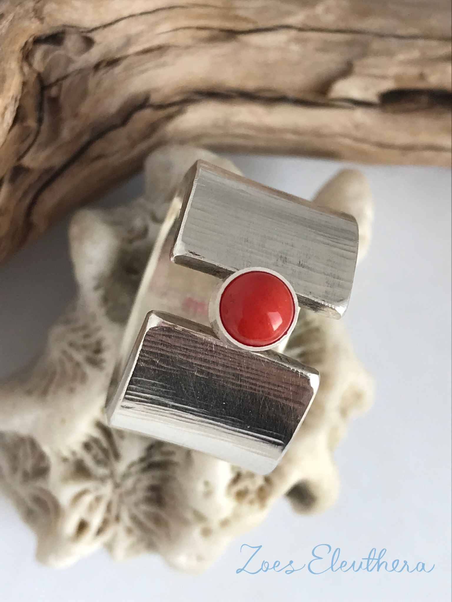 Ring Silver Coral