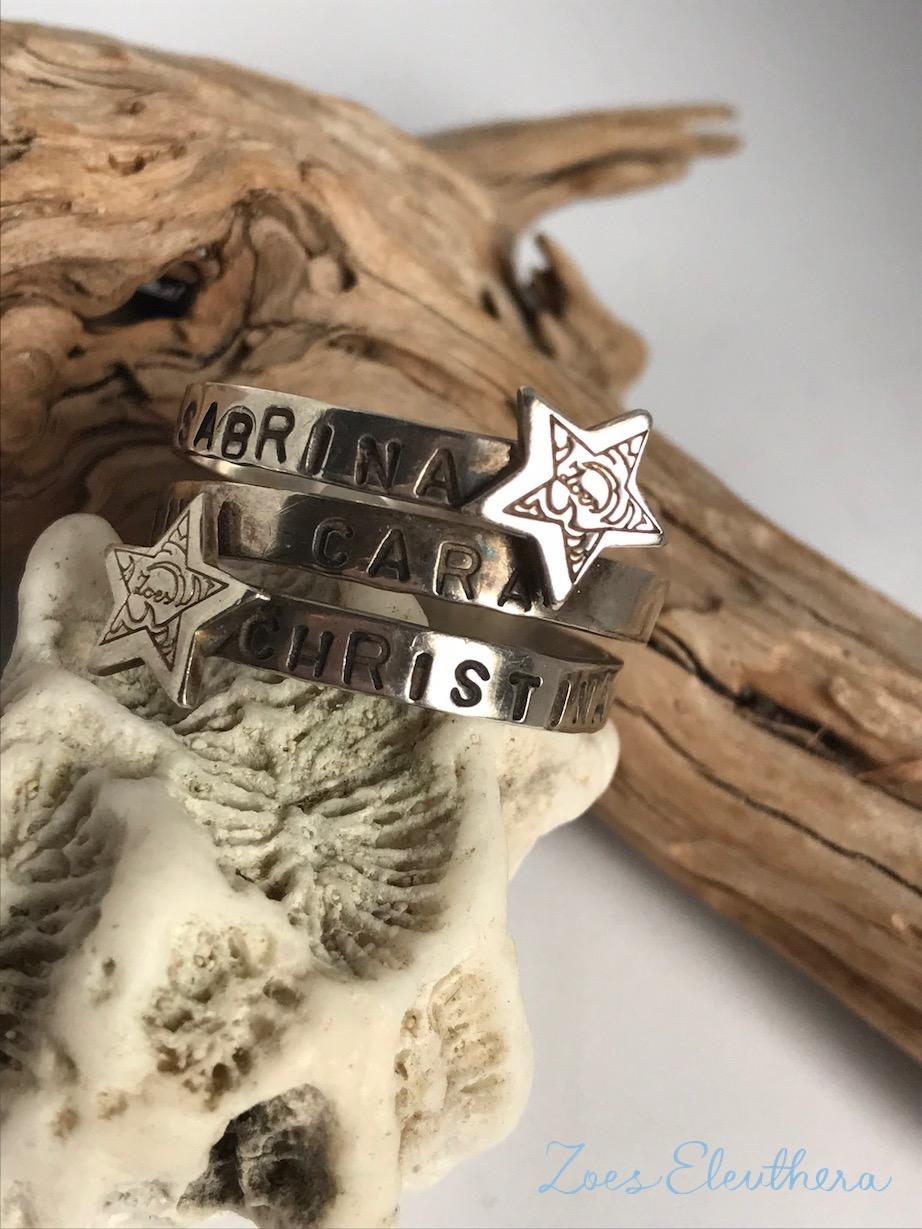 Ring Silber Wickelring Name