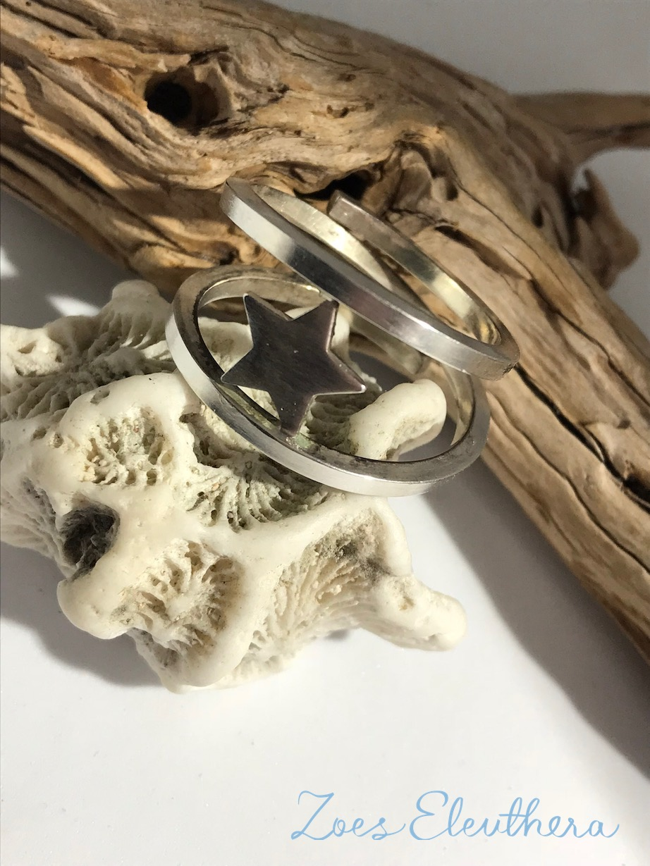 Ring Silver Wrap Ring Star Big Star Silver