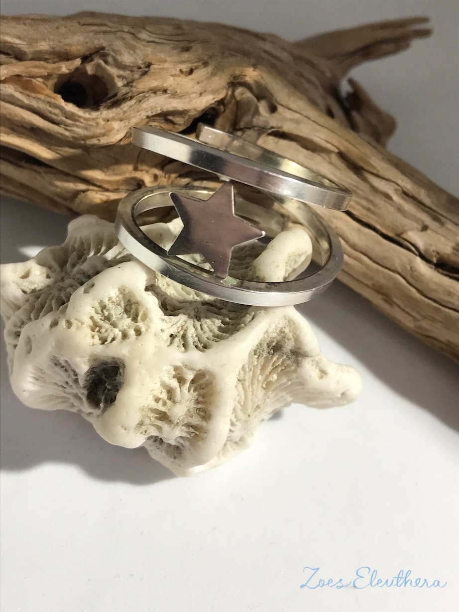 Ring Silver Wrap Ring Star Big Star