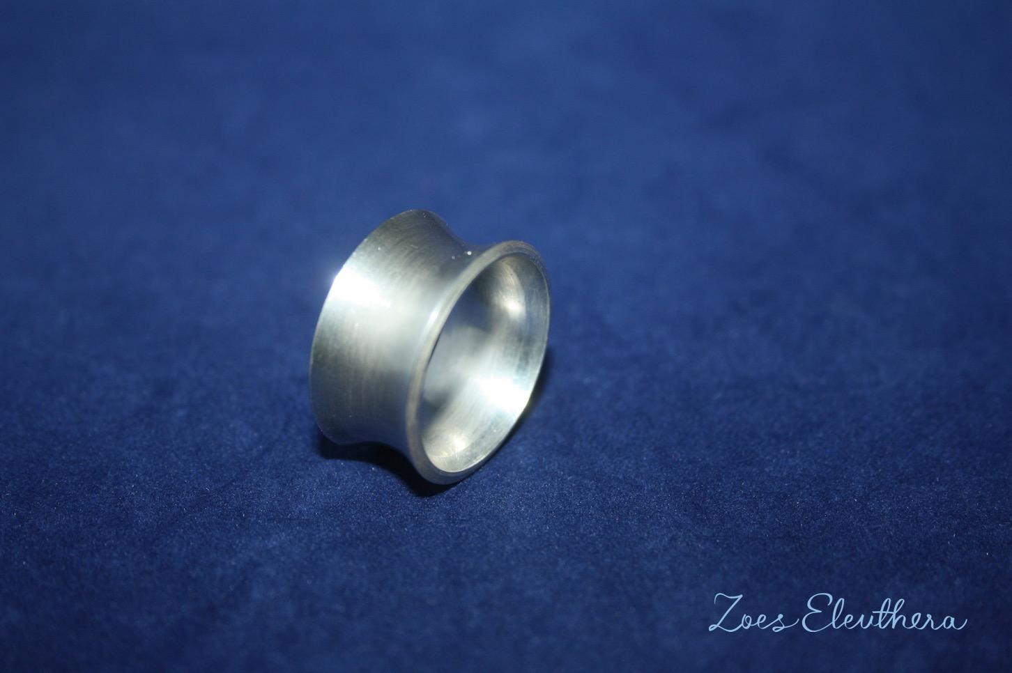 Ring Silber konkav massiv breit matt massiv