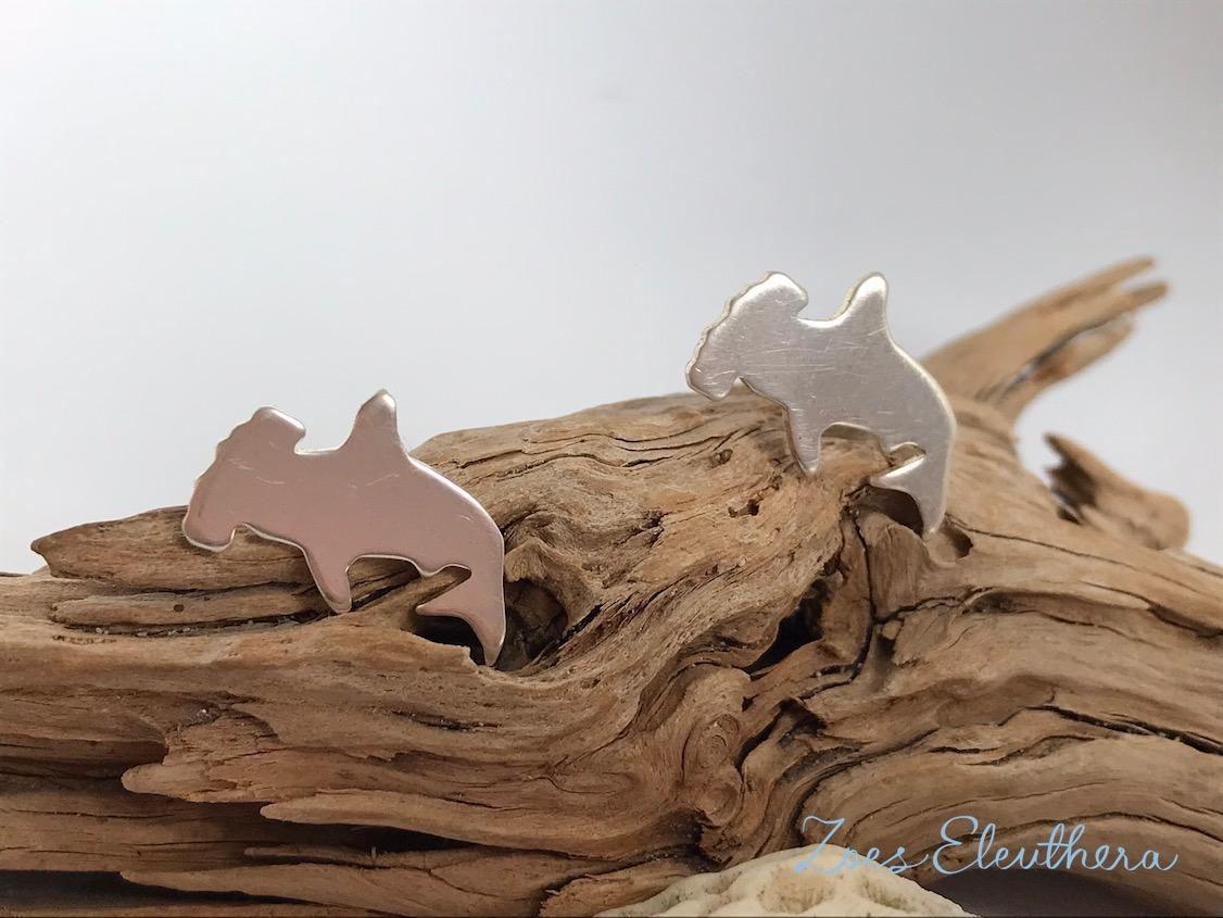 Earrings Silver Hammerhead Shark