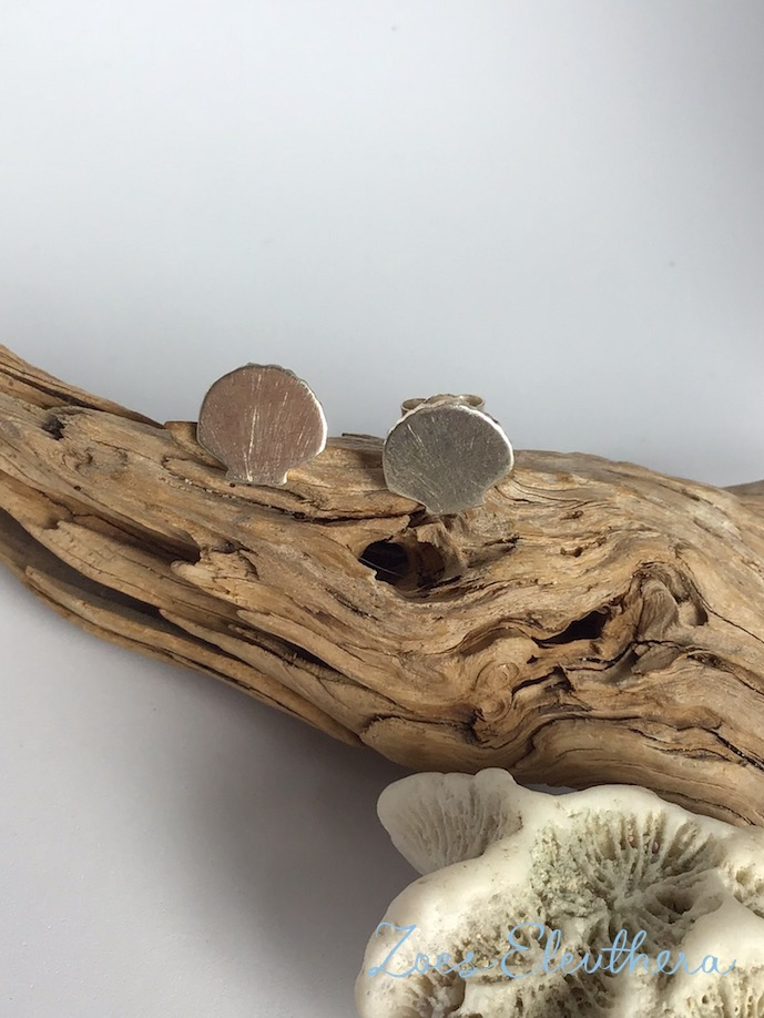 Ohrringe Silber Muschel individualisierbar