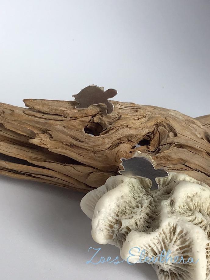 Ohrringe Silber Schildkröte