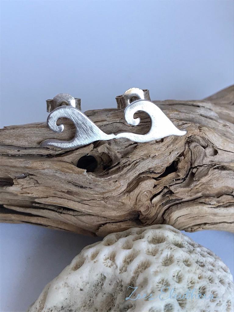 Earrings Silver Wave