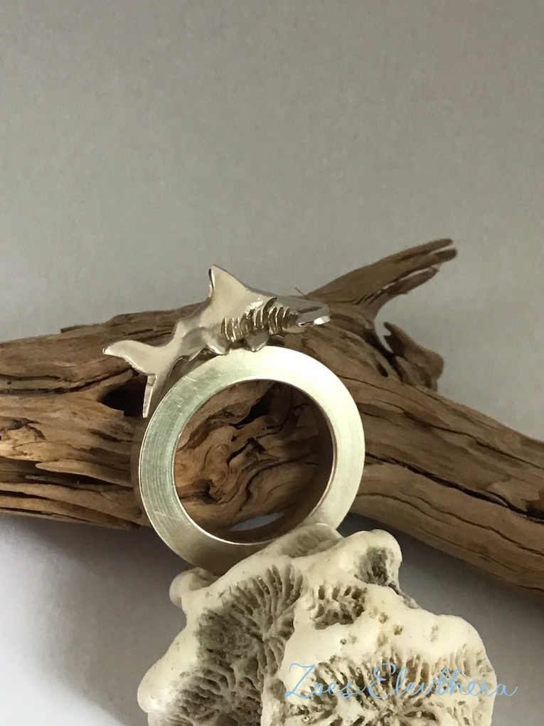 Ring Silber Hammerhai Hai Hammerhead maritim individuell massiv breit