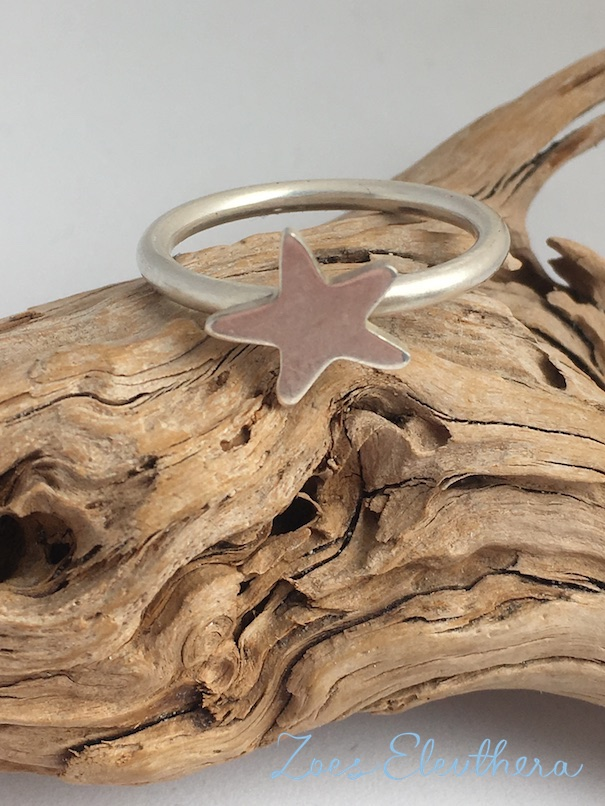 Ring Silver Starfish Starfish narrow delicate nautical individual