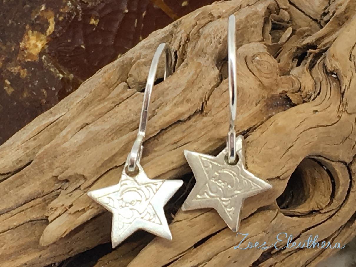 Ohrhänger Silber Stern