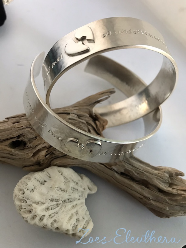 Armreif-Armspange-Silber-Motiv-Spruch-Name-Spruch