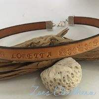 Dog collar leather text pattern individual