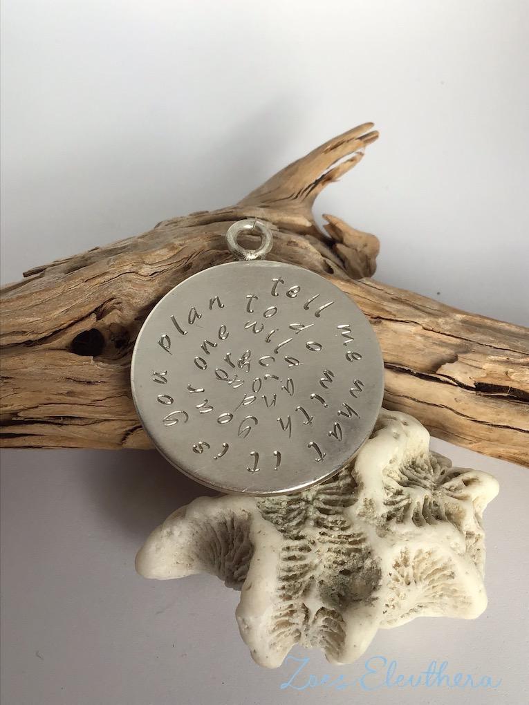 Anhänger Silber Text Kette Text Spruch