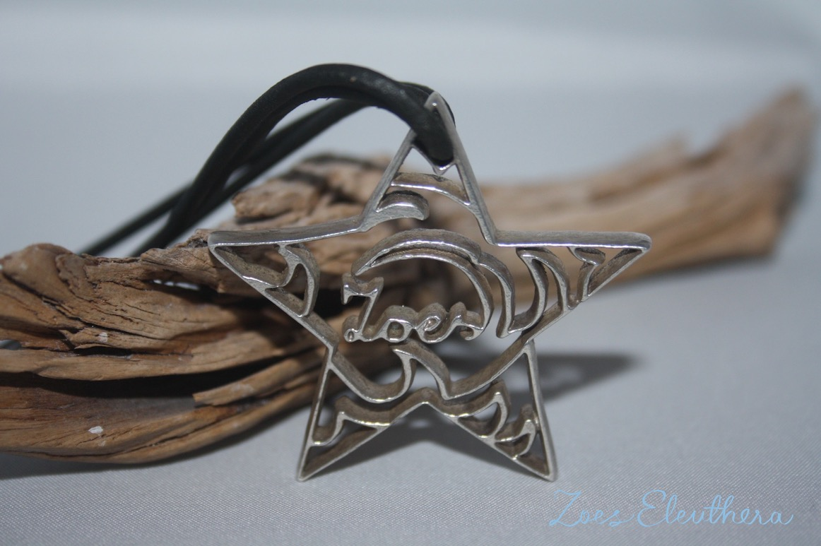 pendant silver star name motive individual