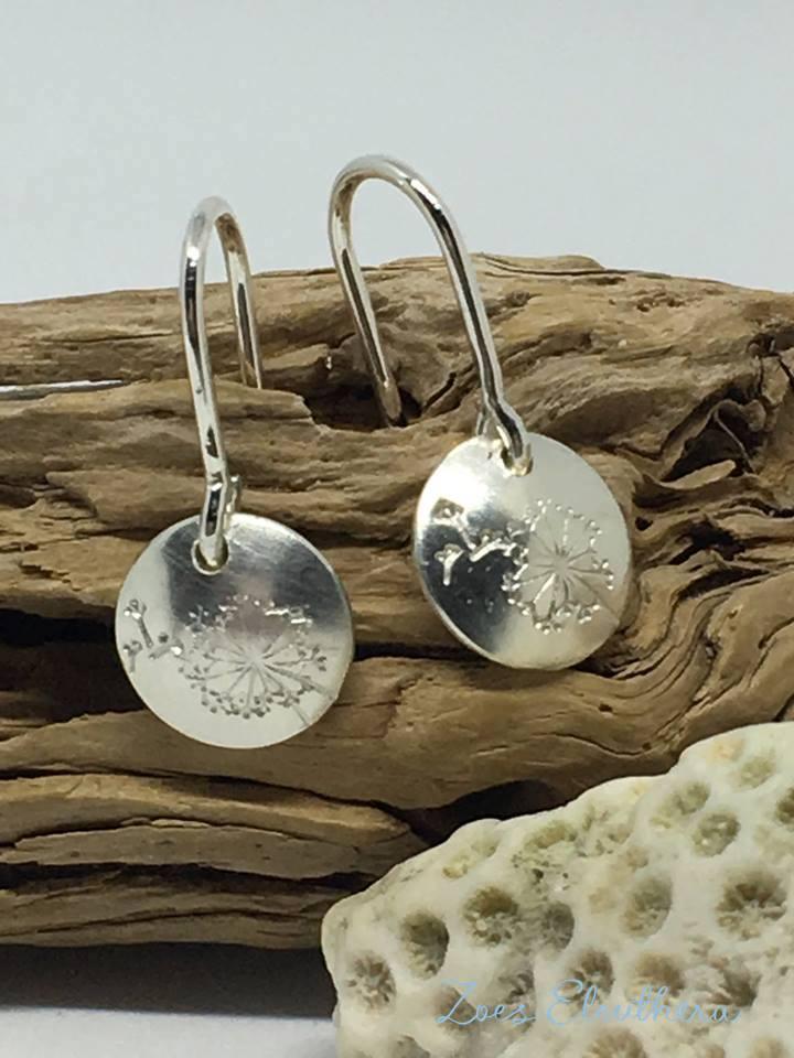 Ohrhänger Silber Pusteblume
