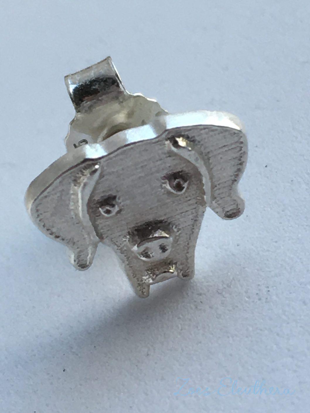 Ohrring Silber Hund Motiv eigenes Tier nach Photo individuell