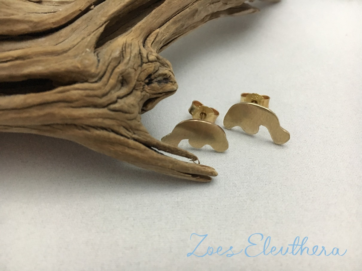 Earrings Yellow Gold Manatee