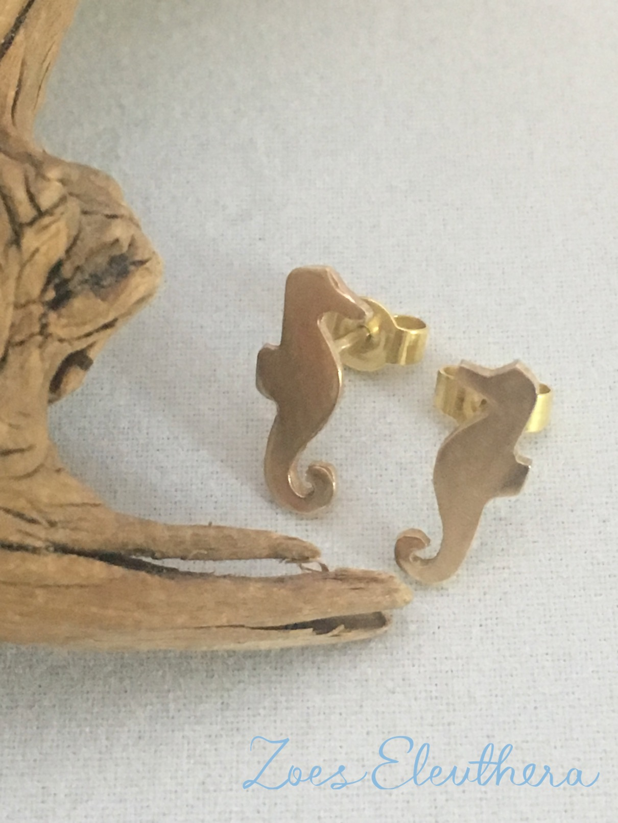 Earrings Yellow Gold Seahorse