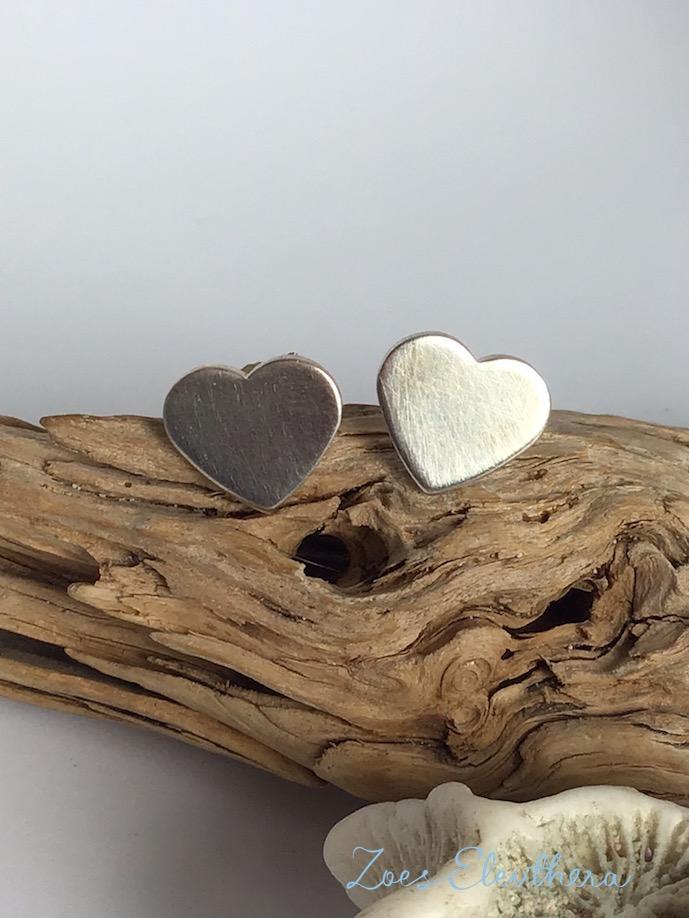 Ohrringe Silber Herz Herzchen