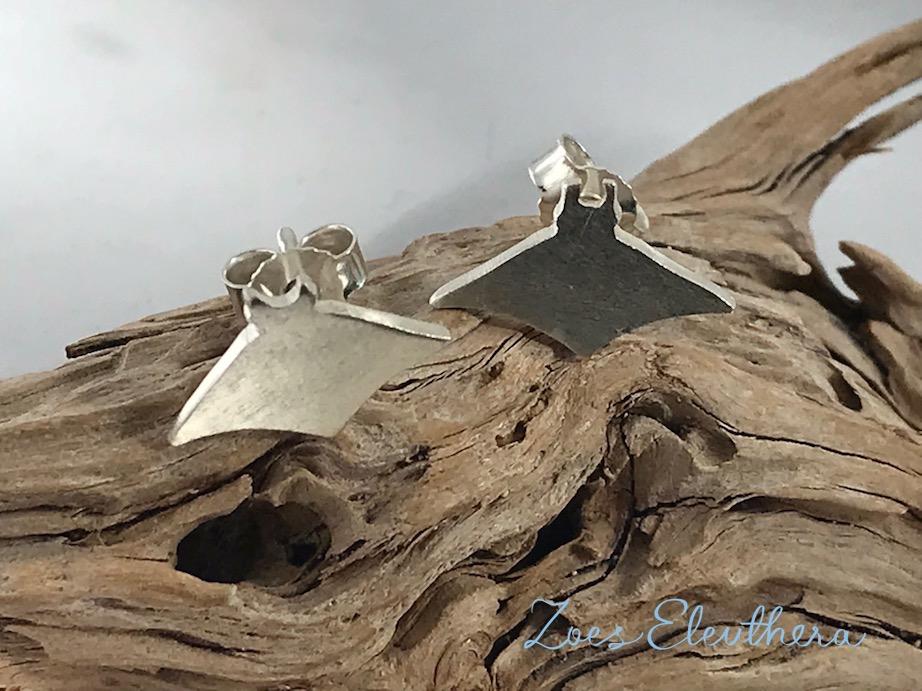 Ohrringe Silber Sonderanfertigung Manta Mantarochen individualisiert