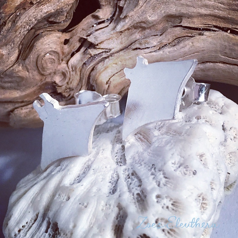 Ohrringe Silber Sonderanfertigung Hund Mantarochen Manta