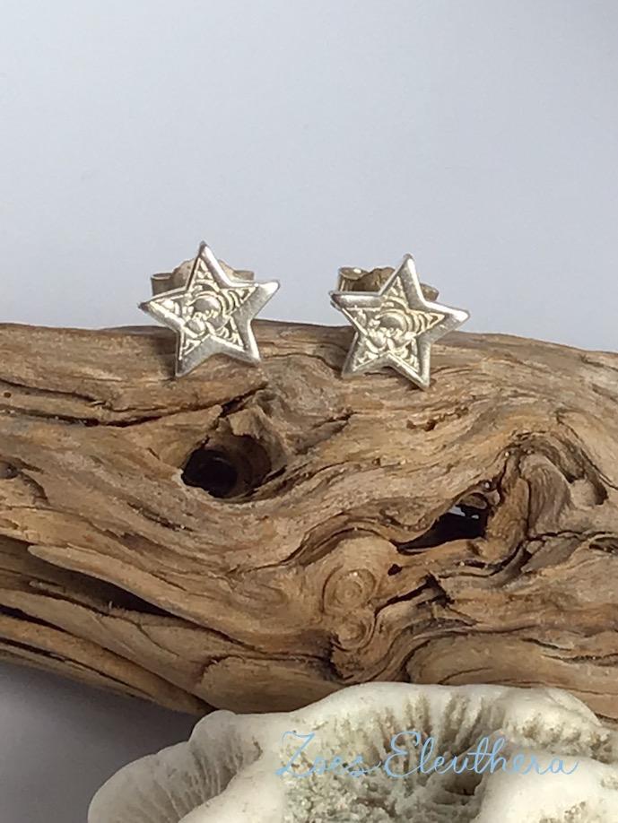 Earrings Silver Star Mini