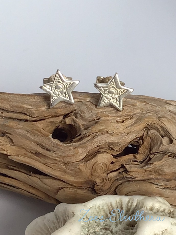 Ohrringe Silber Sternchen Mini individualisierbar