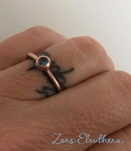 Ring Rotgold Topas zart Model