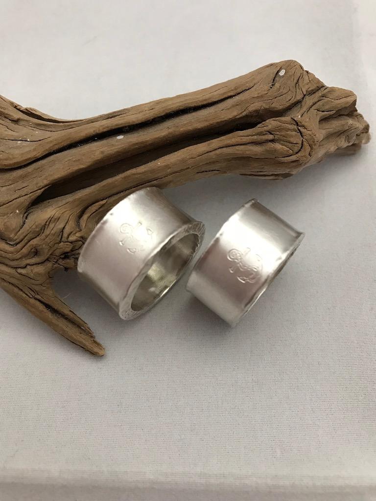 Ring Silber Partner Anker matt individuell Partner Eheringe