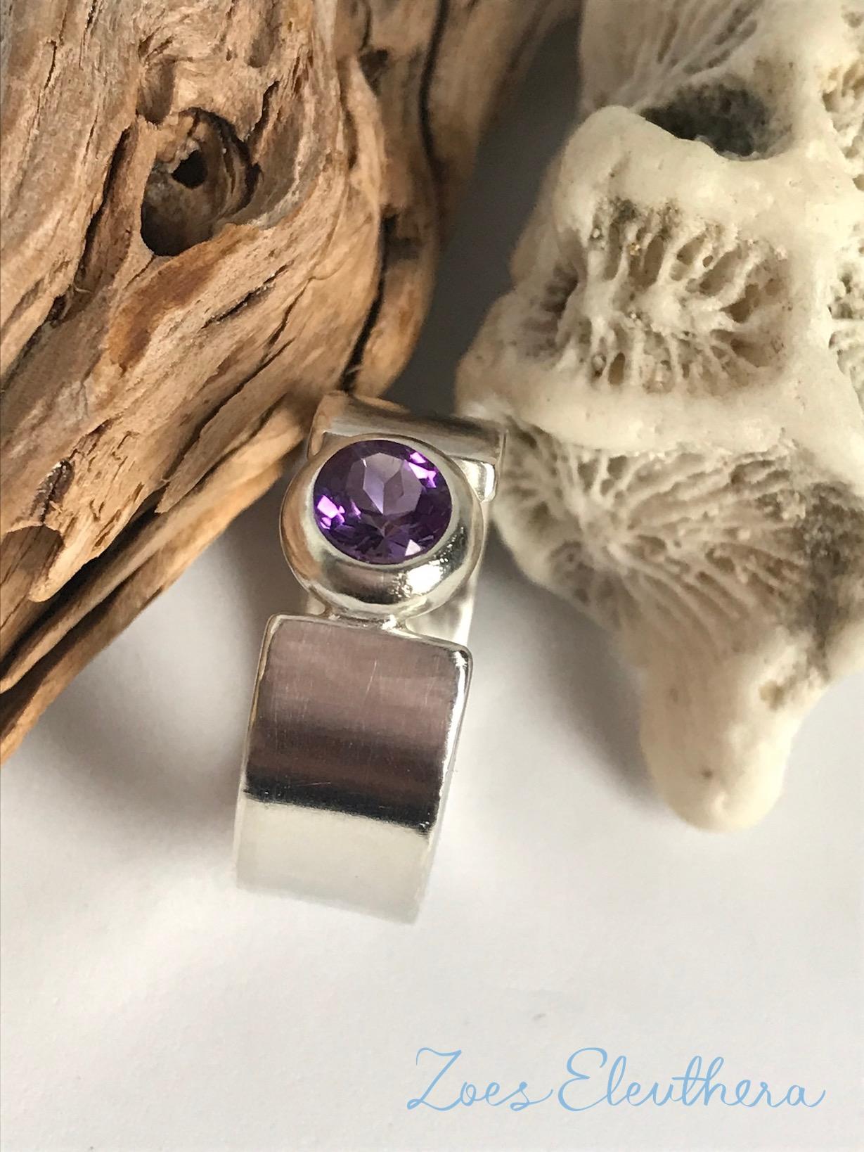 Ring Silber Edelstein zart Amethyst