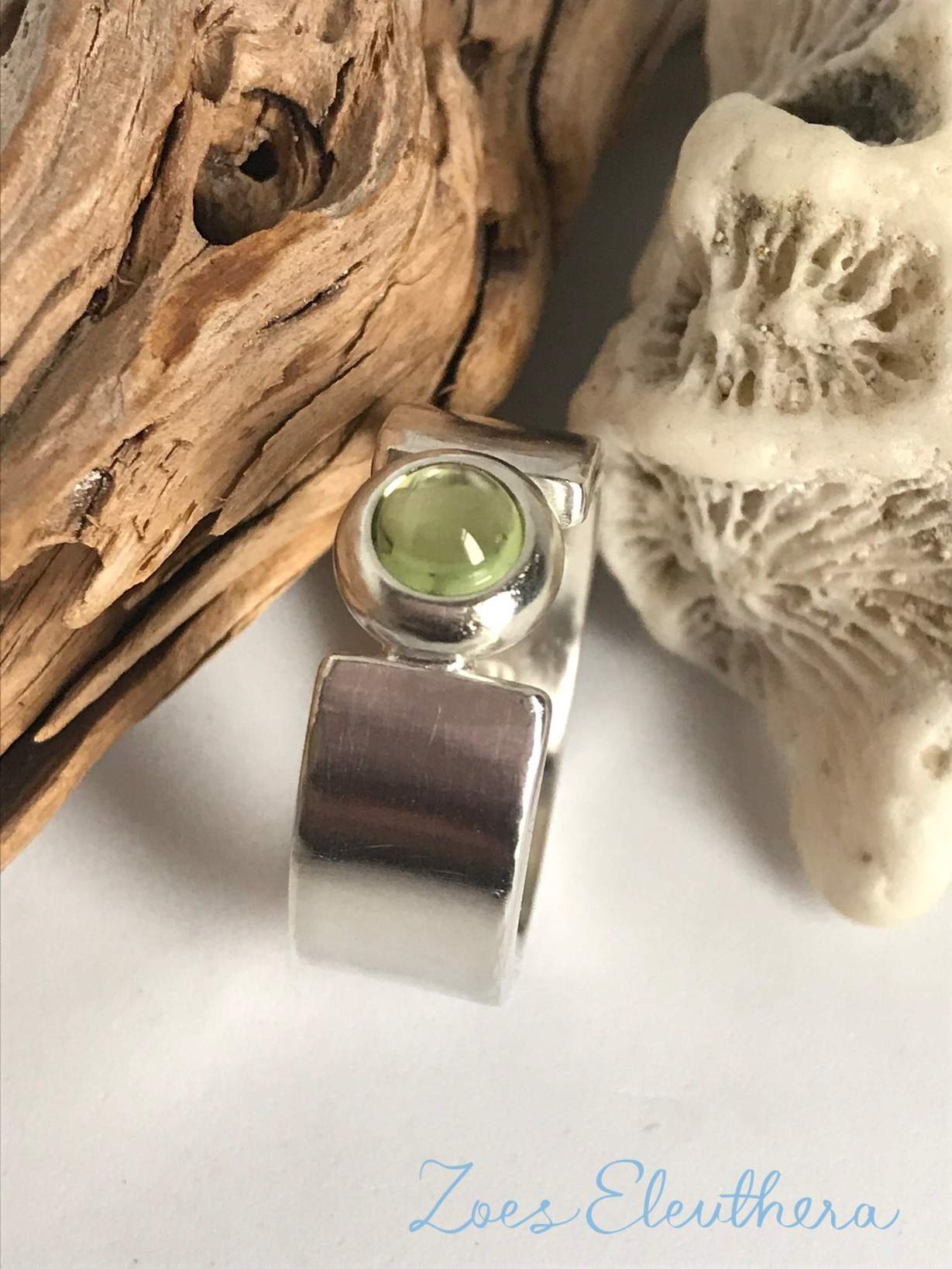 Ring Silber Edelstein zart Peridot
