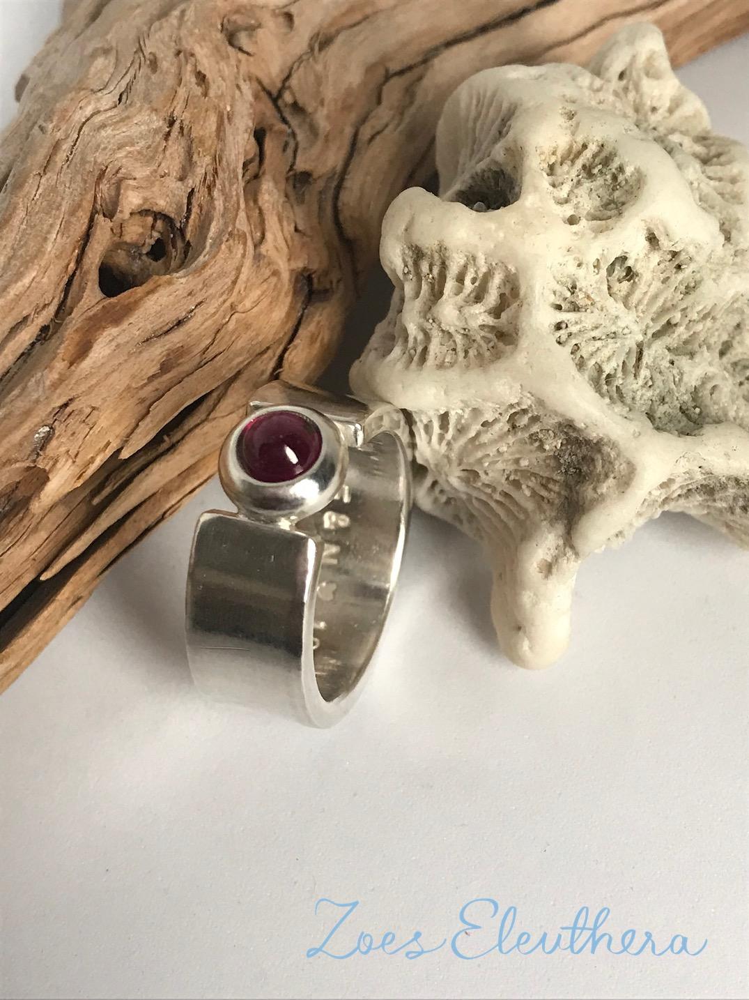 Ring Silber Edelstein zart Turmalin