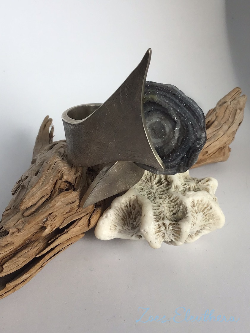 Ring Silber Hai Shark Haiflosse RingnoRing RnR massiv strichmatt