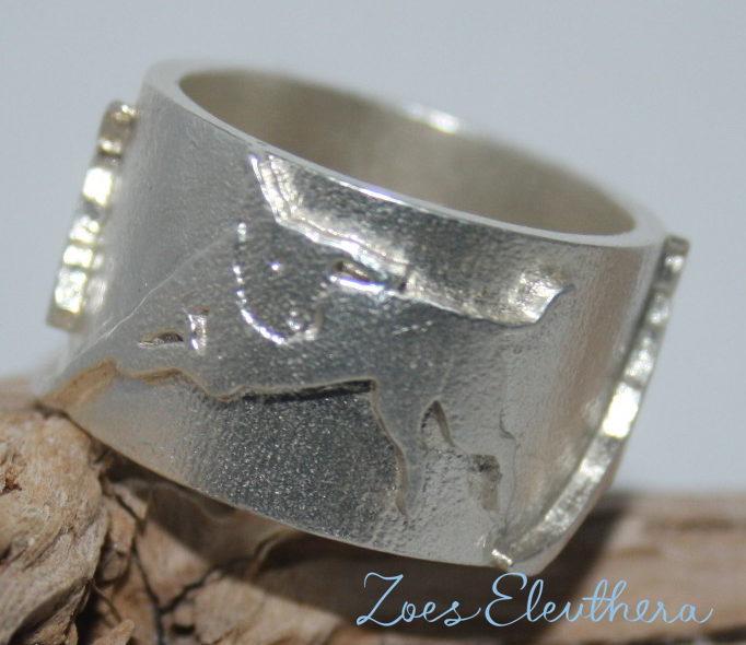 Ring Silber Hund Pferd Tier eigenes Tier Motiv Text individuell massiv