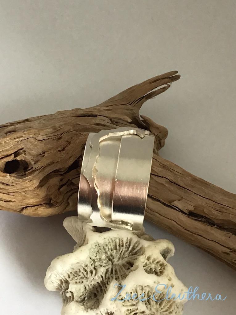 Ring Silber Insel breit Motiv individuell breit massiv