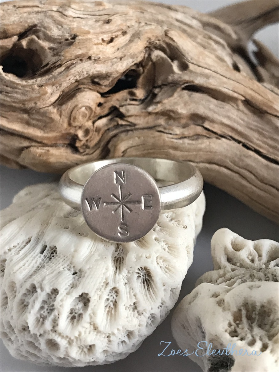 Ring Silver Compass