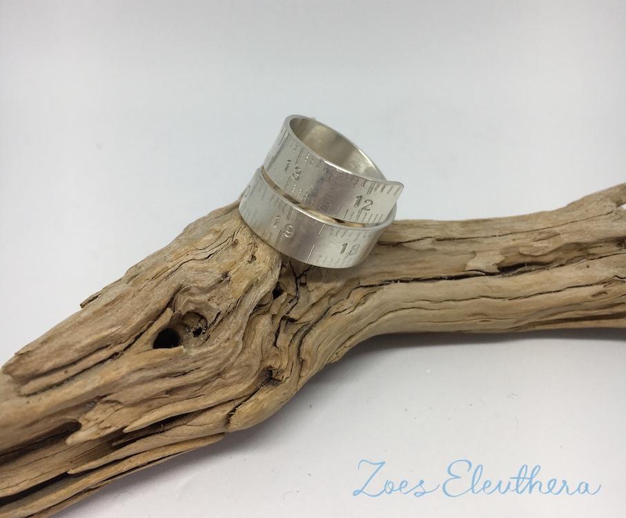Ring Silber Massband Nähband RingnoRing RnR breit