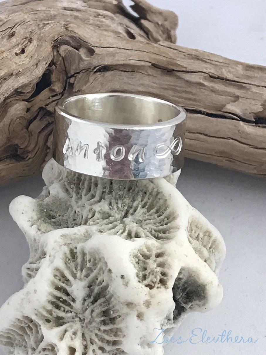 Ring Silber Name