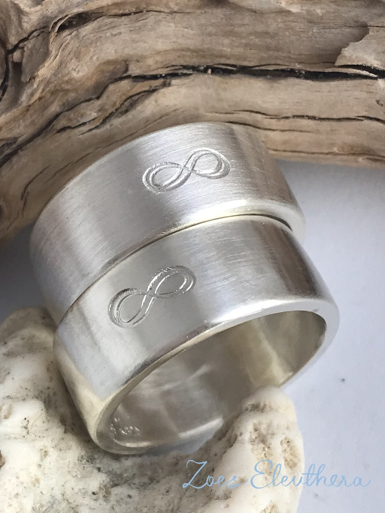 Ring Silver Partner Infinity Text Infinity Motive Partner Marriage Friendship