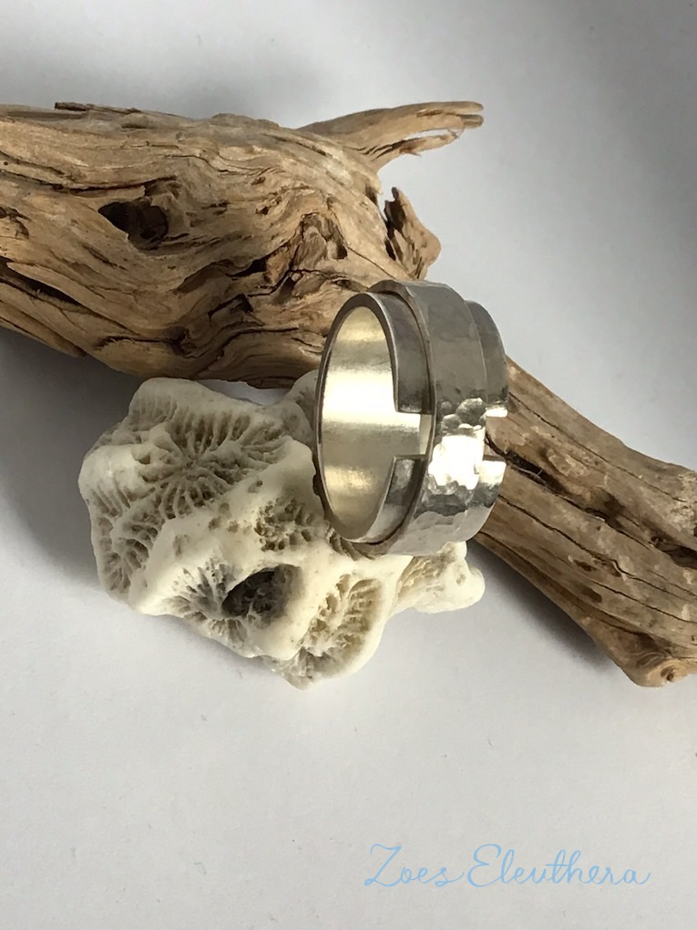 Ring Silber Struktur doppelt RingnoRing RnR individuell
