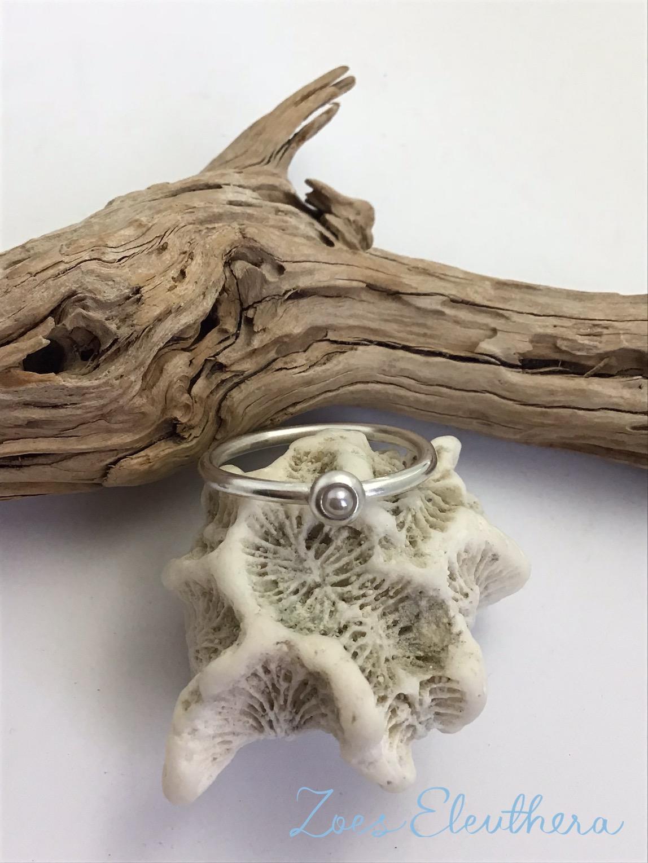 Ring Silber Zuchtperle zart