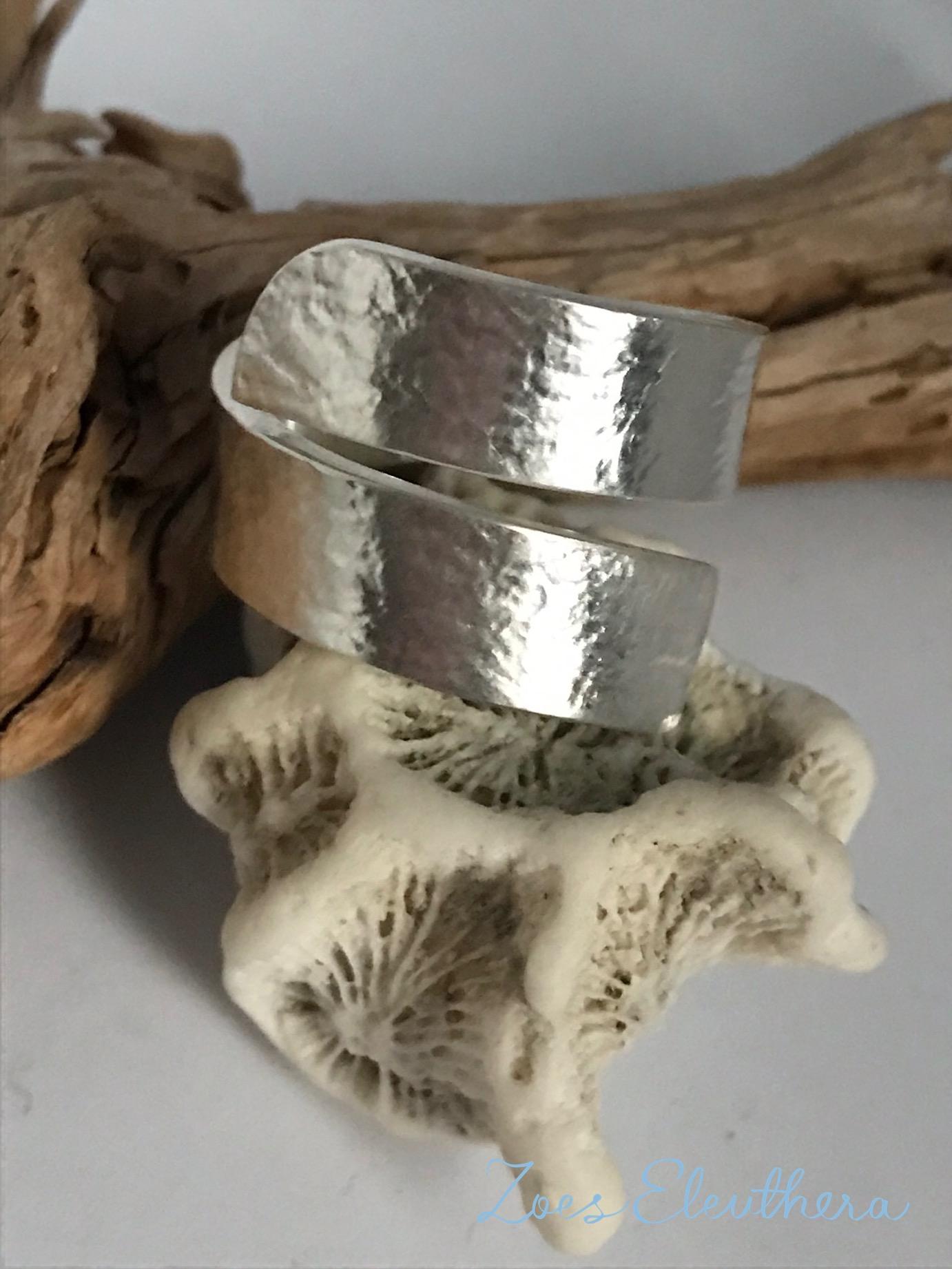 Ring Silver Wave Structure Solid