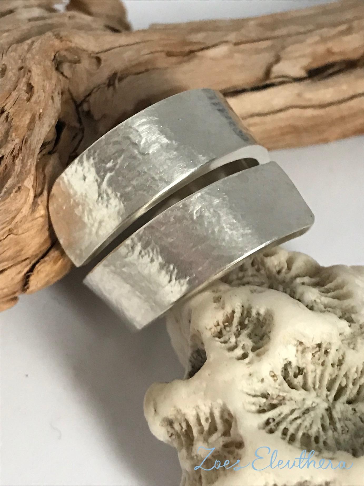 Ring Silber Welle Struktur stark